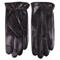 men cheap leather iglove touch screen finger gloves