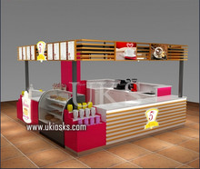 Newest burger kiosk of shopping mall fast food kiosk design and customize