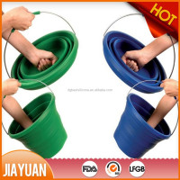 camping water barrel & collapsible silicone rubber car wash bucket