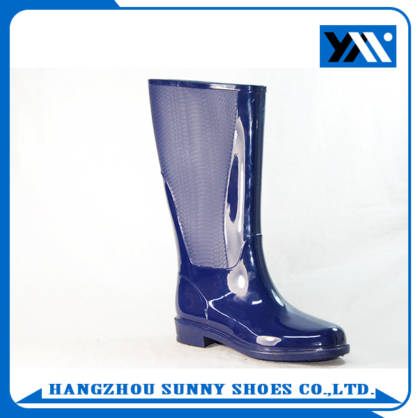transparent high women pvc rain boots