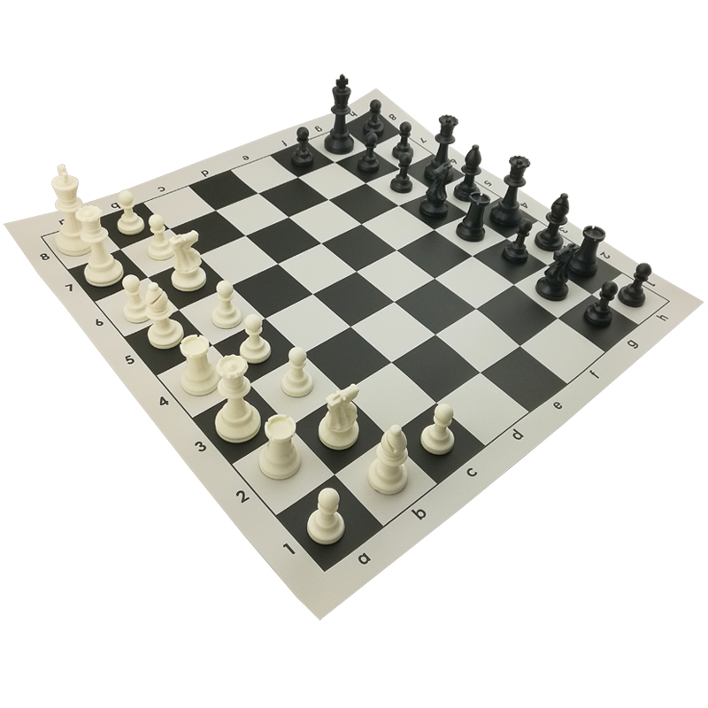 Outdoor plastic chess set chess piece board game