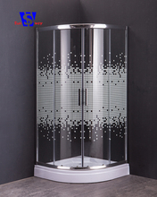 5mm Hotel Popular 2 Sides Free Standing Silk Printing Tempered Glass Modern Shower Enclosure