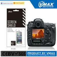 Brand Vmax clear anti-glare anti oil washable smartphone lcd camera screen protector for Nikon d4