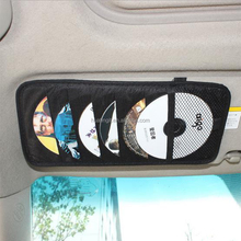 cheap Auto NonWoven Sun Visor CD Holder 12 CD Storage For Car CD Case And Bag Universal Design