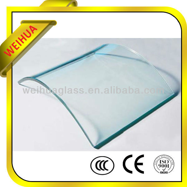 3-19mm Curve Tempered Glass/Toughened Glass with CE/CCC/SGS/ISO