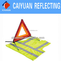 CY Warning Triangle Reflective Vest Safety Kit