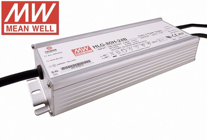 Brand Name 90-305VAC Volt Aluminum single output IP67 Mean Well LED lighting Driver
