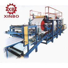 EPS/ROCK WOOL sandwich panel roll forming machine, EPS continuous sandwich panel production line