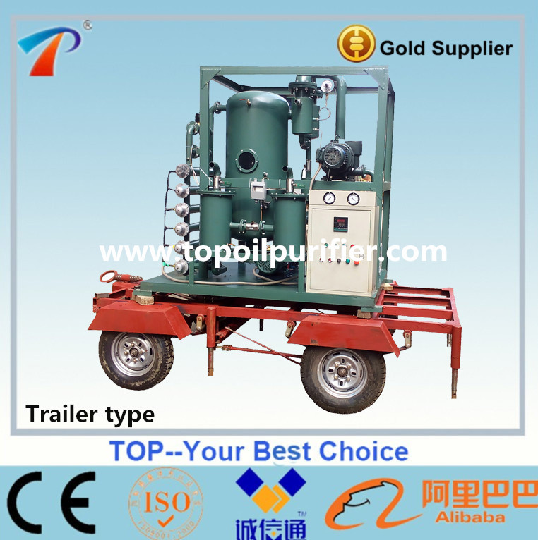 Trailer mounted mobile transformer oil treatment