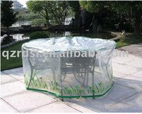 top quality PE film outdoor patio table covers, stacking chair covers