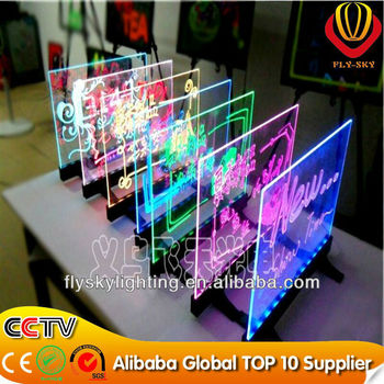 hand write neon led writing board without frame new product alibaba wholesale for advertising