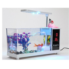 KangWei KW2014A LED light USB Mini acrylic aquarium live rock fiberglass fish tank malaysia