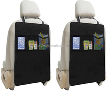 65*45 big size Car seat back protectors with organizer bag can make logo