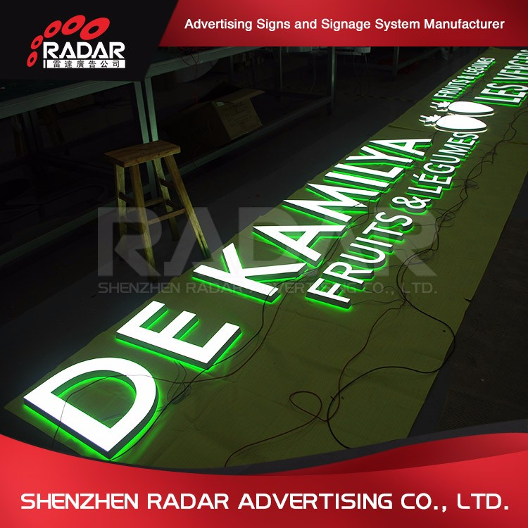 Promotional OEM Acrylic Stainless Steel Backlit 3d Sign Letters Led Open Sign For Advertising Light Boxes