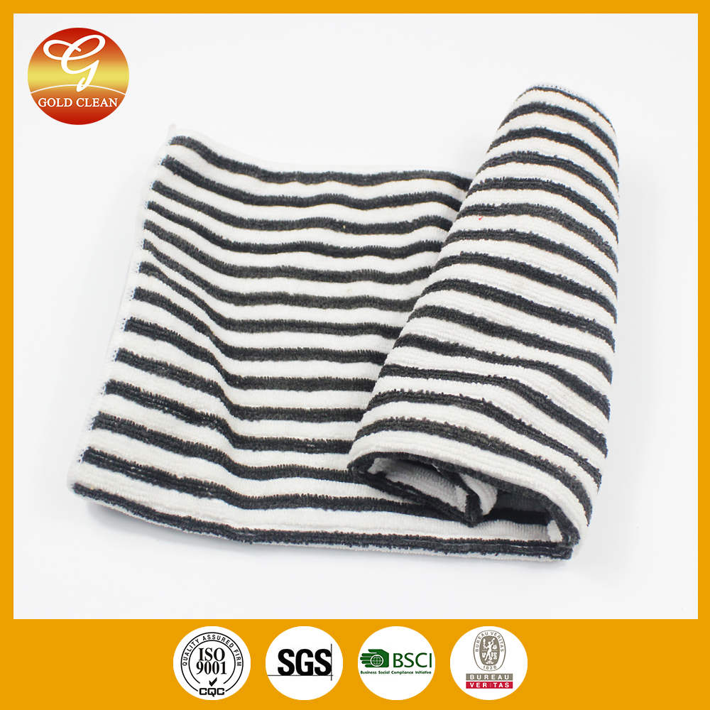 White and black microfibre cloth for home with high quallity