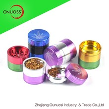 55mm 5 parts wholeasale custom aluminum herb grinder