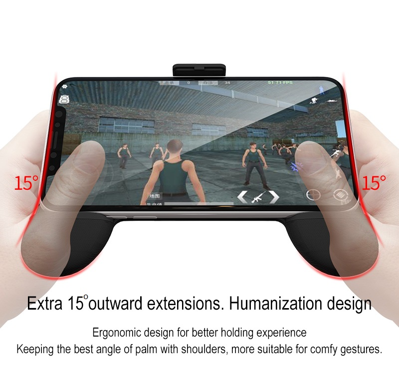 New cooling design RKGame 7th gen air ventilation gamepad smartphone joystick with wireless charging