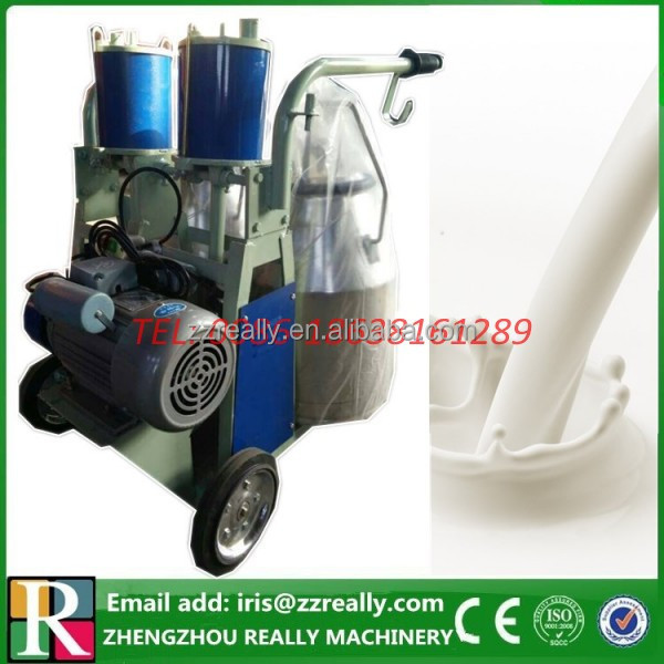 Double aluminum buckets double milking machine for cow