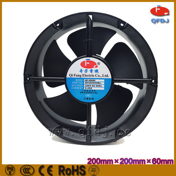 200mm ball bearing mini squirrel cage fan 110v 220v 50hz/60hz squirrel cage exhaust fan