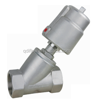 Pneumatic Angle Seat Valve Stainless Steel Actuator