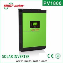 2017 New High frequency Must-solar PV18 5K pure sine wave solar inverter with 60A MPPT solar charge controller