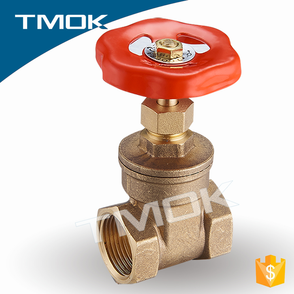 Sand Blasting Pressure Cap Structure Double Of Female Thread Brass Gate Valve