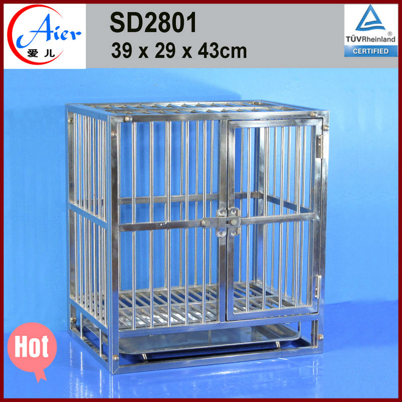 high cost-effective stainless steel cages for dogs