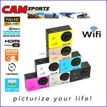 WiFi Waterproof Sports Camera 1080P Full HD 12MP Wireless Diving 30M Mini DV Cam Camcorder Action Video Recorder DV-15