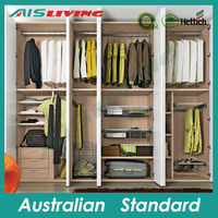 AIS_W009 wardrobe designs modern furniture wooden living room cabinet
