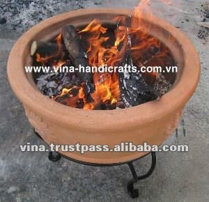 Clay fire bowl