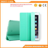 High Quality Smart wake/sleep Case For iPad Air 1 / Air 2 PU Leather case