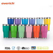 double wall stainless steel insulated powder coated tumbler wholesale with handle