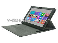 "stand pu genuine leather case with bluetooth keyboard for microsoft surface 10.1"" tab"