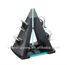 Universal pyramid charger for PS3/XBOX360 controllers