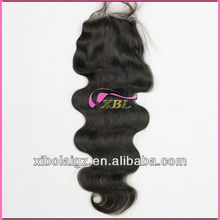 Nautral colore dyeable 100% virgin weave types brazilian hair closure