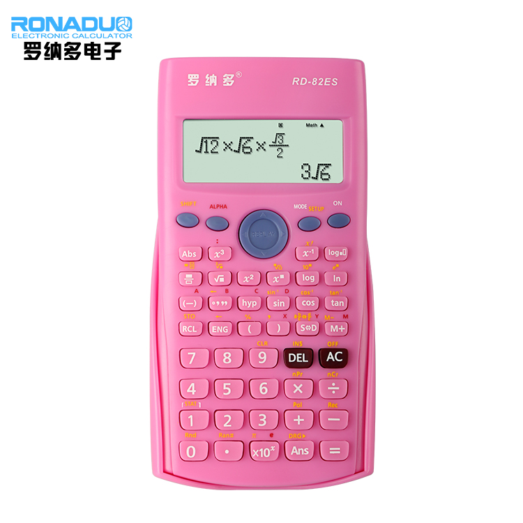 Plastic factory supply large size calculator 2line functions scientific calculator purse shaped scientific calculator