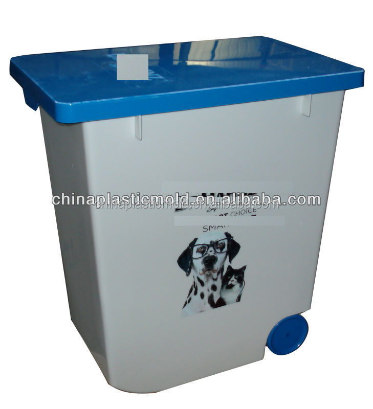 20l 12kg pet food container plastic storage containers with wheels