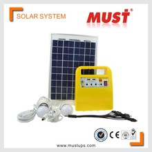 MUST DC Output 10 Watt Mini Portable home solar electricity generation system/10 W solar Power System