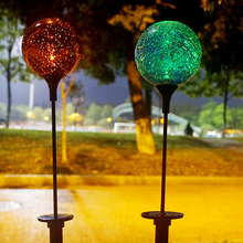 Light Mercury LED 16 color change Glass Spheres ball with Outdoor Stakes