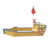 Children furniture Wooden boat-shaped Sandbox