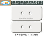 rectangle curtain lead weight with two hole