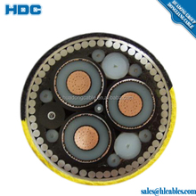 11kv 3core cable with circular stranded copper conductor screen 300 Sq.mm 3 core copper conductor XLPE/PVC/SWA/PE power cable