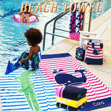 100% cotton velour reactive full color eco printed custom beach towel for kids