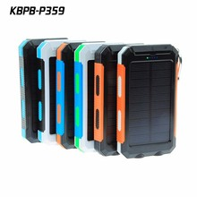 10000mAh Solar Mobile phone Charger External Battery Power Bank for Smartphone
