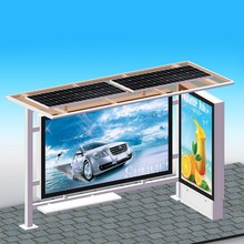 Solar Power Bus Stop Bench Bus Stop Shelter Advertising Customized Bus Station with Light Box