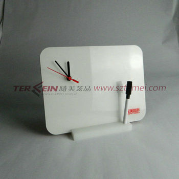 acrylic table clock or decorative table clock
