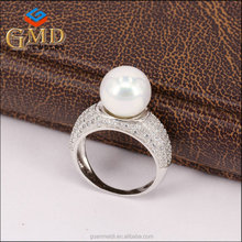 New product customized design silver 925 cz jewelry sample engagement rings