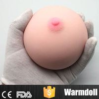 100% Waterproof Silicone Cute Sex Round Breast Ball Toy For Man Sex