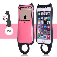 Lovely PC+Silicone Hybrid Smartphone Case, Shockproof Phone Case For iPhone 6