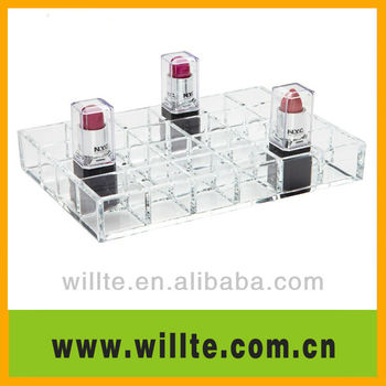 Clear and elegant acrylic lipstick display/rack